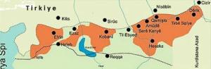 Kurdistana Rojava sê herêm e.